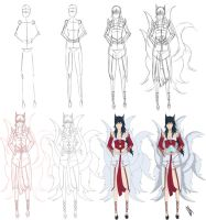 Step by step: Ahri the nine tailed fox by Johnny-Wolf