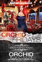 orchid fridays flyer by DeityDesignz