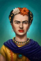 Frida Kahlo by MonicaMarinho