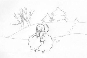 Snowy Winter For Altaria by sunnyfish