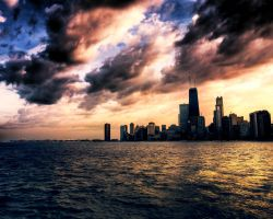 Chicago skyline by Aquilae