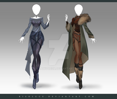 (CLOSED) Adoptable Outfit Auction 212 - 213 by JawitReen