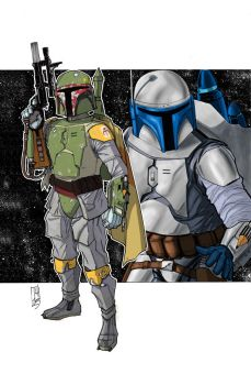 Father and Son: Jango/Boba Fett color by Hodges-Art