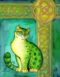 Green Celtic Cat by felixxkatt