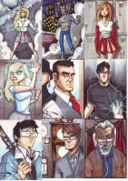 HEROES:SKETCH CARDS by LanceSawyer