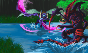 Cho'gath and Khazix by Sikura12