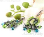 *Ituralde* gemstone earrings by Arctida