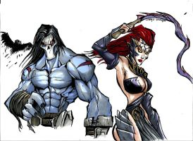 DARKSIDERS DEATH'N FURY(PROMARKER) by Sabrerine911