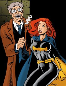 Batgirl unmasked by Commissioner Gordon by SatyQ