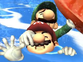 Help Me Mario I'm Drowning by Giant-Red-Yoshi