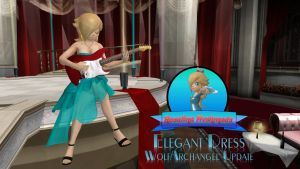 Rosalina Elegant Dress(updated please redownload!) by FatalitySonic2