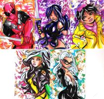 March Of Dimes Sketch Cards by raccoon-eyes