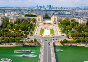 Le Trocadero  and La Defense - from Eiffel Tower by Cloudwhisperer67
