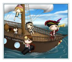 Arrgh- Alice Nine ChibiPirates by Fizzingwhizbee5