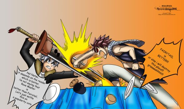 FairyTail VS Rave Master by brownman06