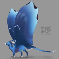 Dragon design: Victoria crowned pigeon by AverrisVis