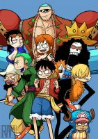 The Straw Hat Pirates by SkullShrooms