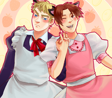 Hetalia - MAIDS by weaselyperson