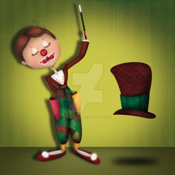 Le Clown Magicien by mayazabeille