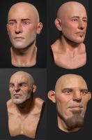 Zbrush Head sculpts 5-8 by Grimnor