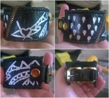JJBA Bruno Inspired Leather Cuff - FOR SALE by MrStitchez