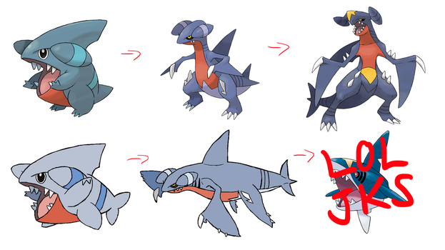 Alolan Form Gible Line by ConnorGotchi