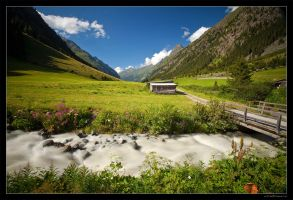 Valley From Tirol 02 by miki3d