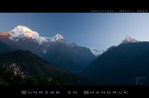 Sunrise in Ghandruk by electro-space