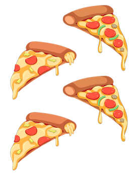 Pizza by oscillons