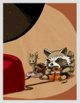 BA - groot and rocket by shoze