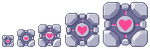 Portal - Companion Cube by oni1ink
