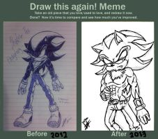 Draw This Again Meme Shadow the Hedgehog by Zapitoow