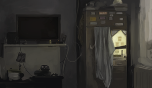 inside of my shared room by VincentXVI