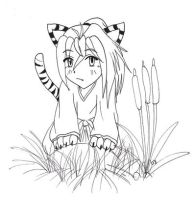A Curious Little Tiger by LeahCK