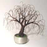RUSTED BONSAI - Mini Tree Sculpture by SalVillano