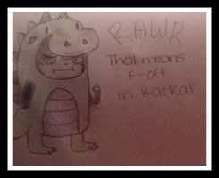 Karkat the Dinosaur by xXAnnieJulesXx
