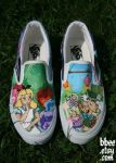 Alice In Wonderland shoes by BBEEshoes