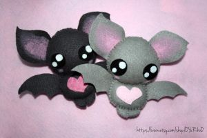 Cute bat plushies by o-YuRiko-o