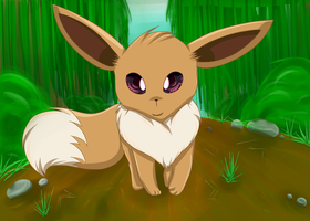 Pokemon Challenge: 01 Eevee by KittenthePsycho