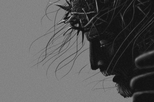 Crucified Jesus, the face by DevCageR