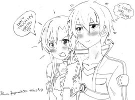 SwOrD ArT OnLiNe: Don't Touch My Kirito!!! by MsYelenaJonas