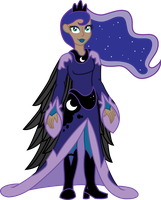 Humanized Princess Luna by InkRose98