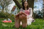 Katharina - Both soles up by foot-portrait