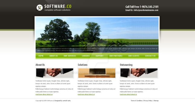 Software Co Html Template by settysantu