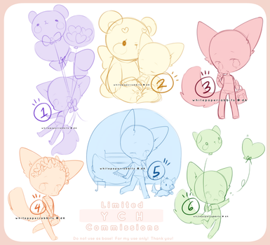 [CLOSED] Limited YCH Commissions 1-6 by whitepaperrabbits
