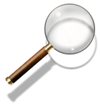 Steampunk Magnifying Glass Search Icon by yereverluvinuncleber