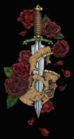 Skull and Roses by scottkaiser