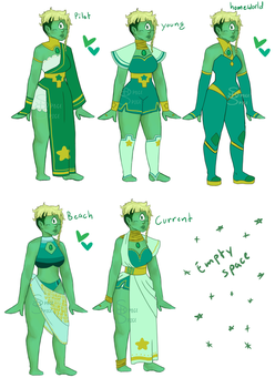 emerald outfits by SpaceSpiceCartoon