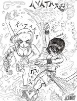Toph and Katara by kwessels