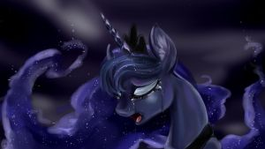 Sad Luna by dreampaw